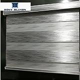 Custom Size Zebra Dual Roller Blinds Silver