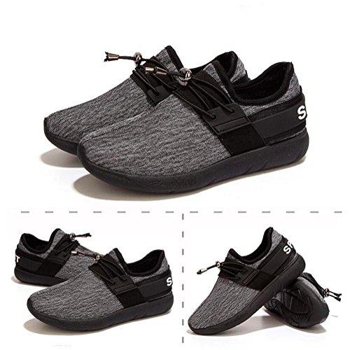 Zapatillas de deporte ocasionales respirables de las señoras / de los muchachos verano y otoño zapatos elásticos de los deportes de la malla de la manera ligeros y duraderos Black
