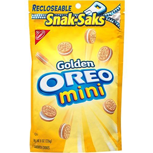 OREO Mini Golden Sandwich Cookies Vanilla Flavor 1 Resealable SnakSak