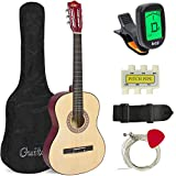 Best Choice Products 38in Beginner Acoustic Guitar Starter Kit w/ Case, Strap, Tuner,...