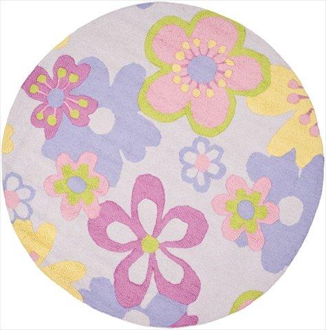 Safavieh Safavieh Kids Collection SFK314A Handmade Multicolored Cotton Round Area Rug (6' Diameter)