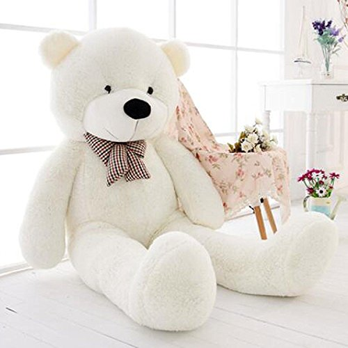 Hot New Big Stuffed Bear Soft Doll Toy White-47inch/120CM