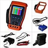 Evertech Cctv Multi-function Tester PRO M - Built-in Digital Multimeter - 3.5'' LCD Monitor Cctv Tester Video / PTZ Tester / Security Camera / Cable Tester /Cctv Monitor Test Tester + Multimeter 11 in One Function
