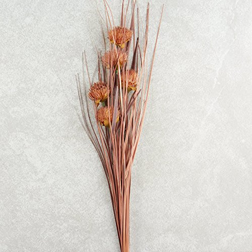 (Hanken Group of 3 Dried Artificial Thistle and Onion Grass Bush Decorating, Crafting and)