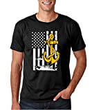 Crazy Bros Tees US Navy Seals Anchor - Sailor US Veteran Military Premium Men's T-Shirt (X-Large, Black)
