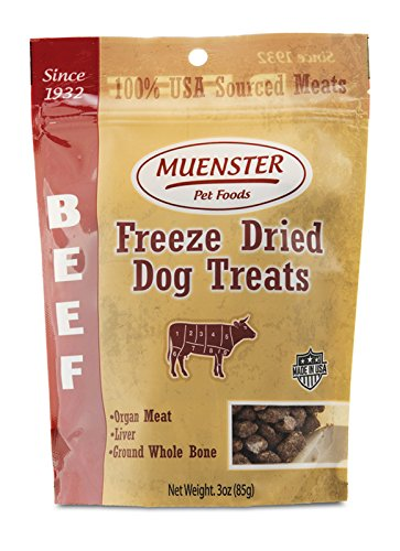 Muenster All Natural Beef Dog Snacks – Healthy Training Treats for Your Picky Pup –  Raw Diet Friendly – Freeze Dried for Freshness – Proudly Made In USA Review