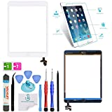OmniRepairs For White iPad Mini (1st and 2nd Generation) Retina Display Touch Screen Digitizer Glass OEM Assembly with Home Button, IC Chip, Adhesive Tape, Screen Protector, and Premium Repair Toolkit