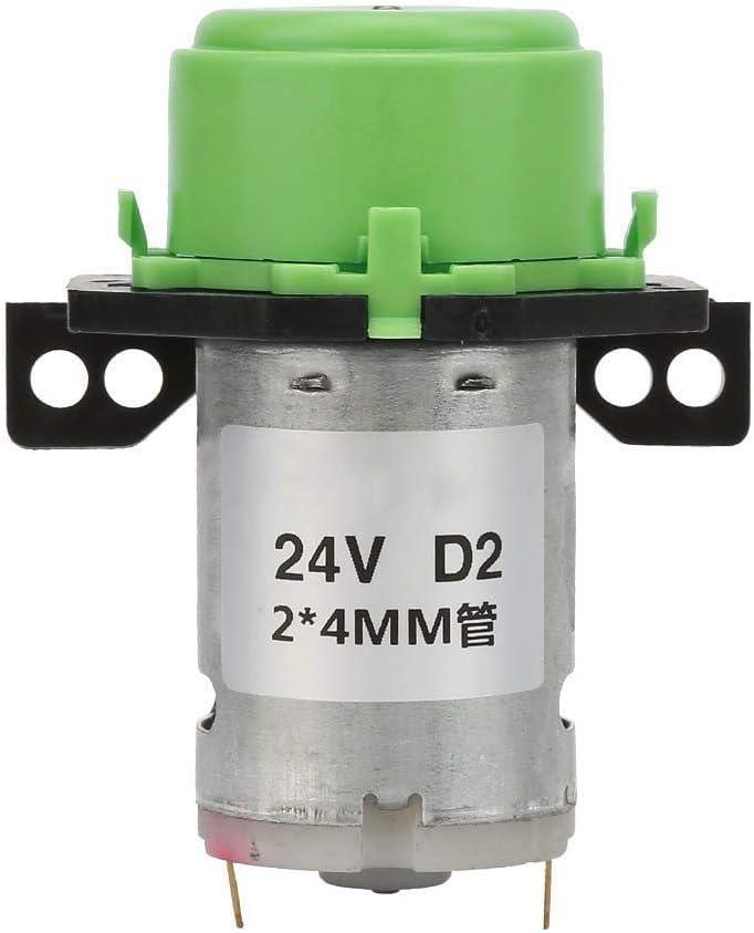 Pangding Bomba peristáltica líquida Micro del Agua de DC para el Laboratorio del Acuario analítico 2 * 4m m 24V(Verde)