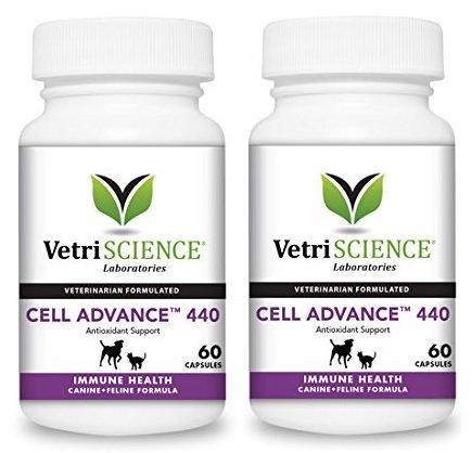 - VetriScience Cell Advance 440 Canine and Feline Immune Health Formula, 60 Cap (Set of 2)