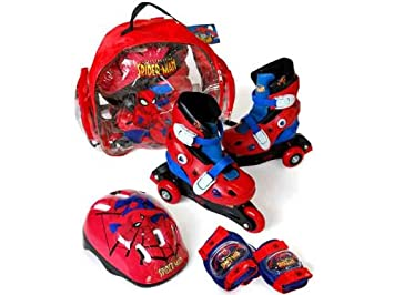 Spiderman - Set de patines transformables en línea, talla 31-34 (Saica Toys