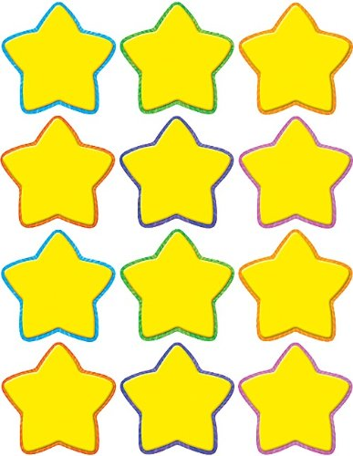 - Teacher Created Resources Stars Mini Accents, Yellow (5130)