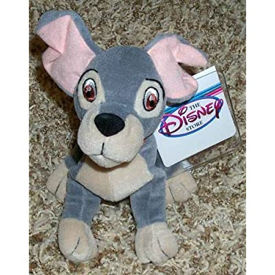 Retired Disney Lady and the Tramp 7 Inch Plush Bean Bag Tramp Doll: Toys & Games