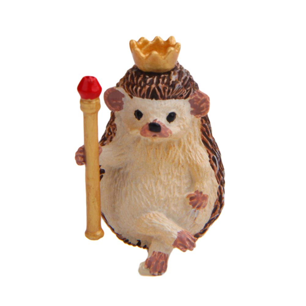 Tangbasi 6 Hedgehogs Decoration Mini Cute Hedgehog Resin Figurine Glass Desktop Decor Fairy Garden Accessory Cook Type