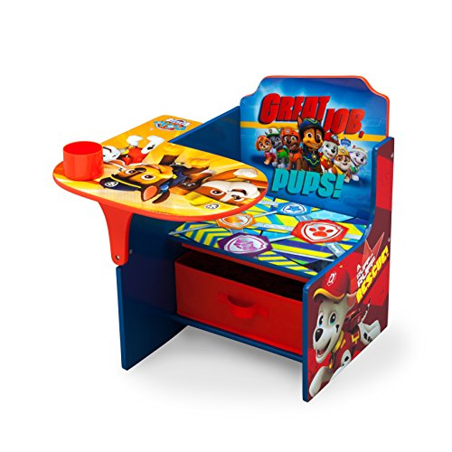 Delta Children Chair Desk with Storage Bin, Nick Jr. PAW Patrol (Bedroom Storage Chairs)