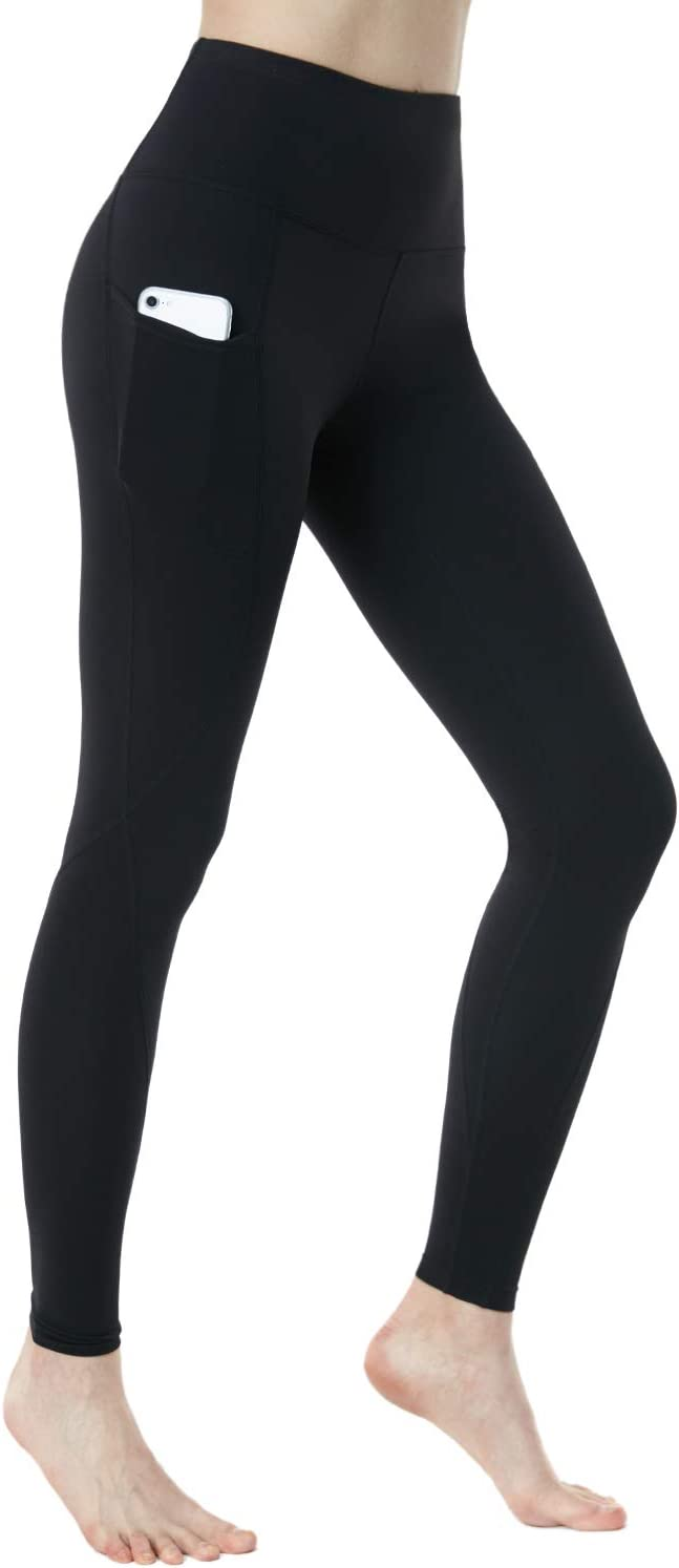TSLA Yoga Pants Leggings Mid-Waist//High-Waist Tummy Control w Side//Hidden Pocket Series