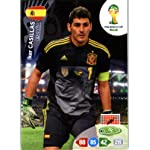 2014 FIFA Panini Adrenalyn World Cup Soccer Card Iker Casillas Spain