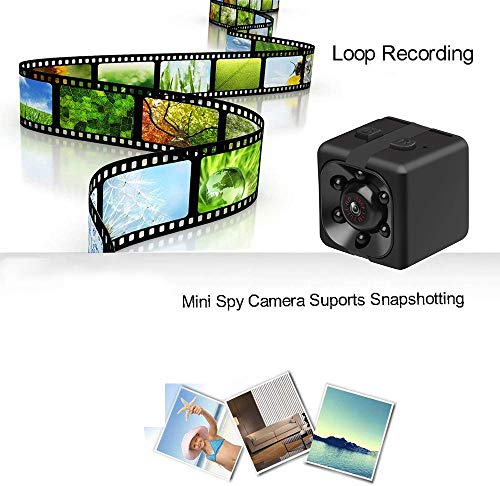 Mini Camera Nanny Camera Portable Small Camera Compact Indoor Outdoor Security Camera, 1080 HD Video, Motion Detection, Night Vision - No WiFi Need