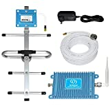 Aclogue Home Cell Phone Signal Booster 4G LTE AT&T T-Mobile 700MHz Band 12/17 FDD Mobile Signal Repeater Amplifier Including Indoor Omni-Directional Antenna and Outdoor Directional Yagi Antenna Kits