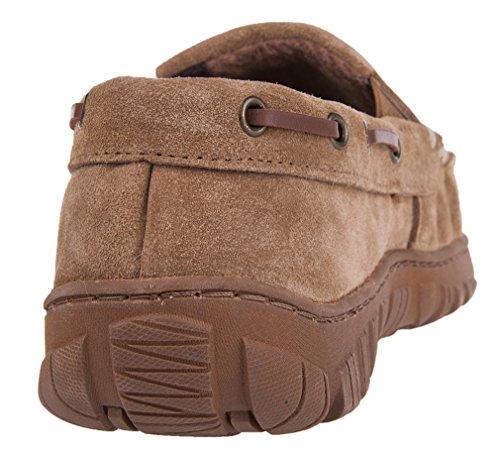 Mixin Hommes Intérieur Mocassins Causales En Plein Air Confort Cuir Classique Conduite Mocassins Pantoufles Chaussures Marron Clair