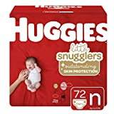 Huggies Little Snugglers Baby Diapers, Size Newborn (up to 10 lb.), Big Pack, 72 Count (Packaging May Vary)