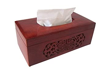 Restbuy Wood Tissue Box Cover Holder Dispenser Kleenex Tissue For Office  Bathroom Kitchen Table