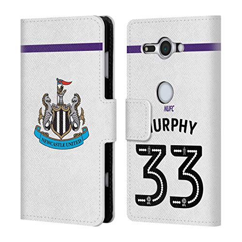 Murphy Compact Wallet - Official Newcastle United FC NUFC Murphy 2016/17 Players Third Kit 2 Leather Book Wallet Case Cover for Sony Xperia XZ2 Compact