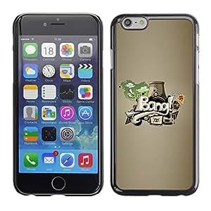 TopCaseStore / la caja del caucho duro de la cubierta de protección de la piel - Bang graffiti Abstract Art - Apple iPhone 6 Plus 5.5