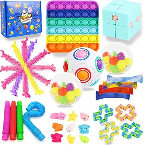32 Pack Fidget Sensory Toy Set Popitz it, Adhd...