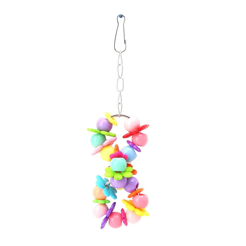 Pet Bird Parrot Parakeet Budgie Cockatiel Cage Flower Ring Swing Hanging Toy Premium Quality by Yevison