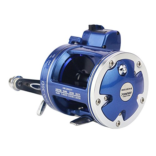 EDTara Spinning Reel with ACL Counter Trolling Reel Right Hand Baitcasting Wheel Fishing Line Round for Sea Fishing