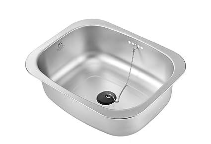 PN Poong Nyun Stainless Steel Washing Up Bowl Multi Purpose Dish Tub For  Sink