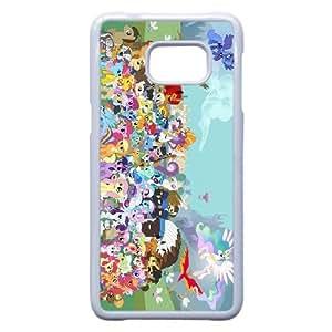 Mi pequeño Pony B0R7Ky Funda Samsung Galaxy S6 Edge Plus Nota 5 Borde caja del teléfono celular funda blanca I9S7XF poco frecuentes funda caja del teléfono celular