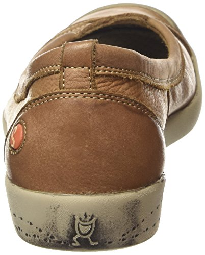 Softinos Marron brown Ballerines Washed Ilma Fermées Braun 520 Femme wXqOwzgxpr