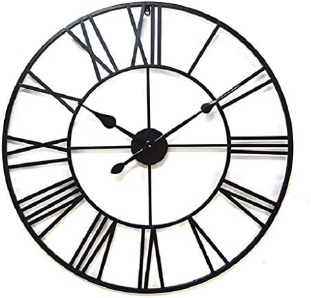 JIUZHOUHONG Farmhouse Wall Clock Large Metal Decorative Round 16 Inch Clock