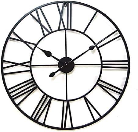 JIUZHOUHONG Farmhouse Wall Clock Large Metal Decorative Round 16 Inch Clock