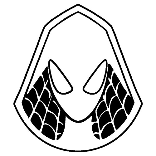 Marvel Spider Man Spider Gwen, White, 6 Inch, Die Cut Vinyl Decal, For Windows, Cars, Trucks, Toolbox, Laptops, Macbook-virtually Any Hard Smooth Surface