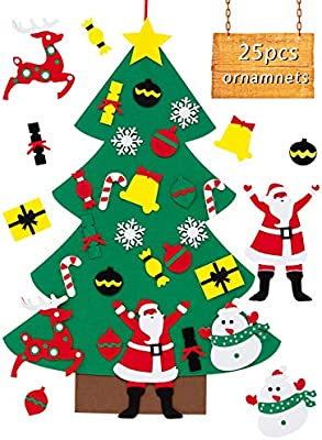 Australian Christmas Tree Decorations.Cosweet 3 1ft Diy Felt Christmas Tree Decorations 3d Hanging