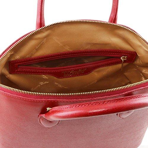 Tuscany Leather TL KeyLuck Borsa shopper in pelle Saffiano Rosso Bajo Costo BPPIYTv