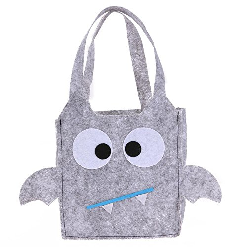 Sala-Tecco - Halloween Pumpkin Bag Non-woven Fabric Bat Evil Halloween Candy Bag All Saint's Day Children Funny Gift Bag Festival Supplies