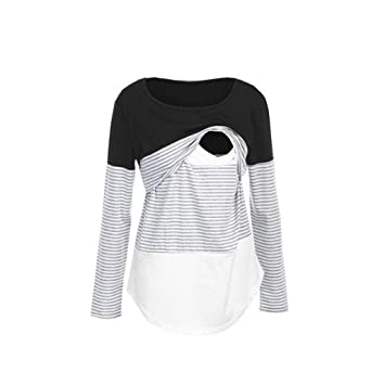 Maternity Clothing Pregnancy & Maternity Long Sleeved Stripe Tops Blouse Comfy Loose Maternity Women Mom Pregnant Nursing Baby Maternity Clothes For Pregnant Women In Many Styles