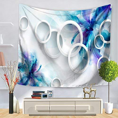 Farbe : Blau, Größe : 150 * 130cm Farbe: Blau, Größe: 150 * 130cm frische Blumen für Wandbehang Tapisserie dekorative Wandbehangdecke Hängende Tapisserie HOME Tapisserie