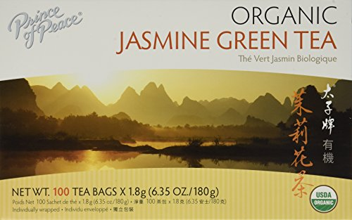 Prince of Peace Organic Green Tea Jasmine, 100 Count - Prince Organic Tea