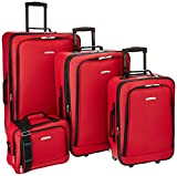 Rockland Dot 4-Piece Set, Red, One Size