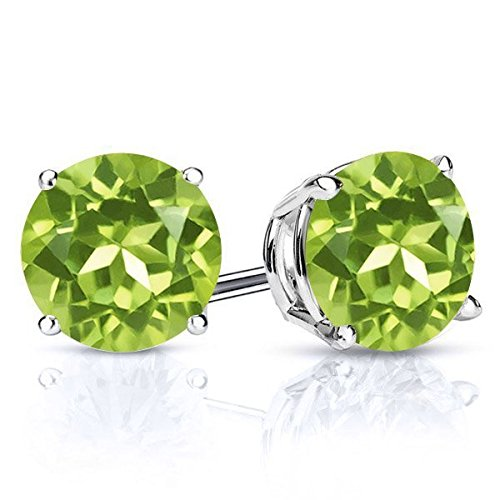 sterling silver stud gem earrings - 7