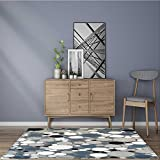 for Home or Travel retro circle tile pattern Easier to Dry for Bathroom 22''x60''