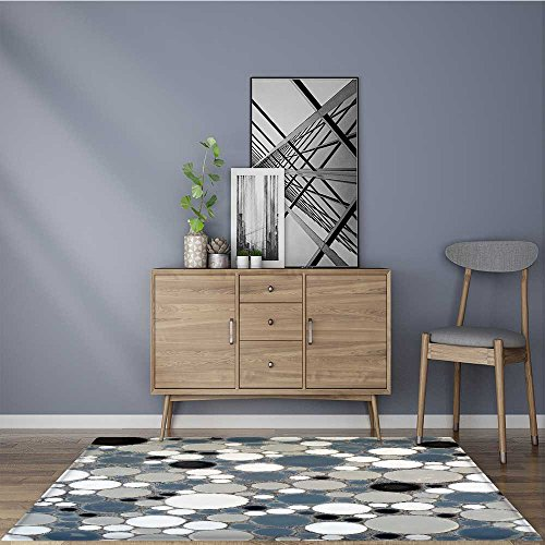 for Home or Travel retro circle tile pattern Easier to Dry for Bathroom 22''x60'' by L-QN