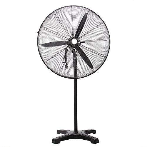 Industrial Stand Fan - PanelTech Pedestal Fans High Velocity Metal Stand Industrial Fan 30 inch, 3 Speed Settings with 55