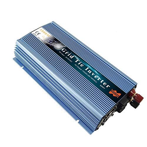 Marsrock 1000W Grid Tie Inverter, 20-50V DC to AC 120V/220V Pure Sine Wave Inverter for 1000-1200W 24V, 30V, 36V PV Module or Wind Turbine (AC120V Blue)