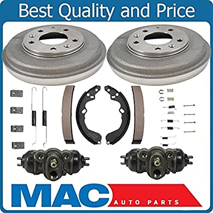 100/% New Rear Brake Drums Shoes Spring Kit Wheel Cylinder Fits For Honda CRV 97-01 6p