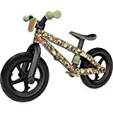 Chillafish BMXie-RS: BMX Balance Bike with Airless RubberSkin Tires, Army of Love Edition, Camo (Commander in Peace)
